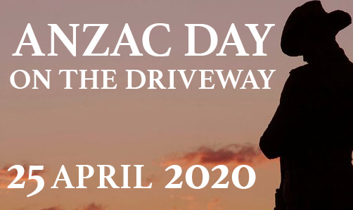 Anzac Day on the Driveway 1