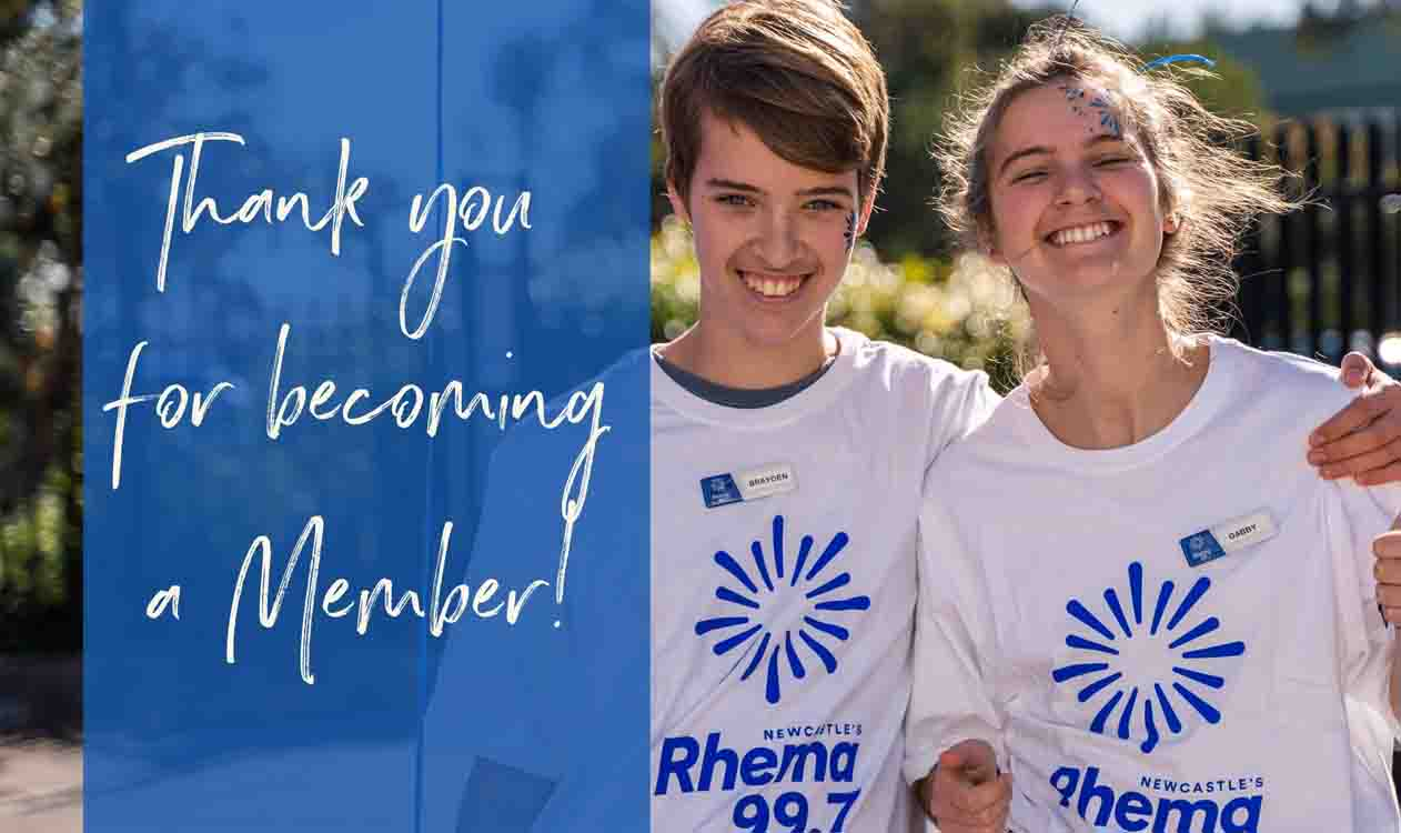 thank you for becoming a Rhema member