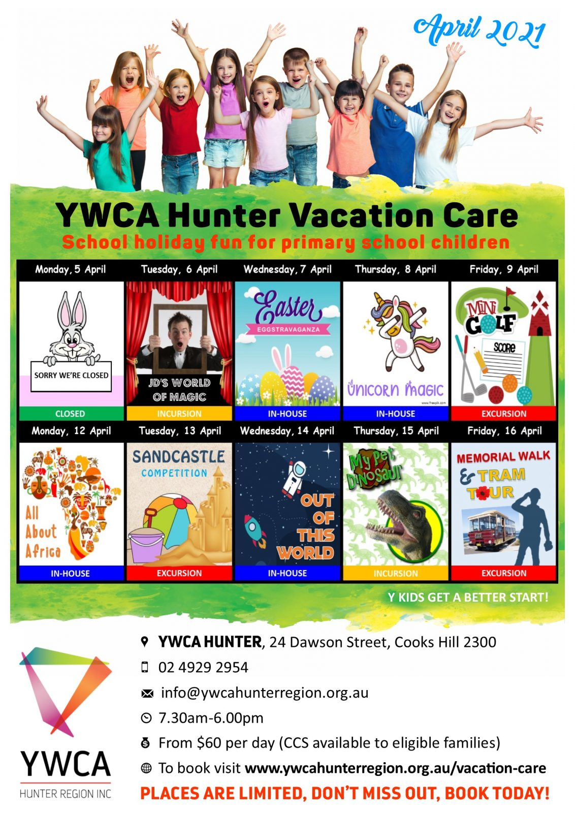 Vacation Care at the YWCA Hunter 1
